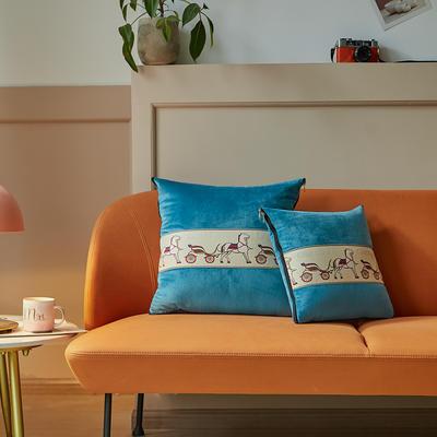 爱马仕高奢系列抱枕被 50X50cm 宾利蓝