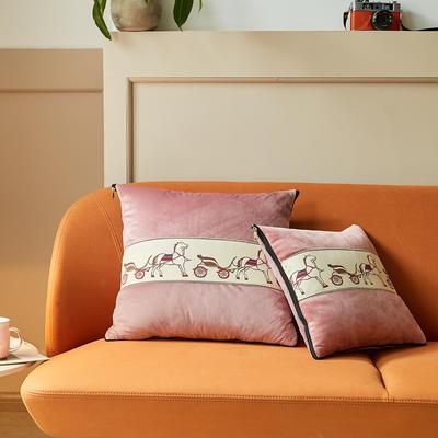 爱马仕高奢系列抱枕被 50X50cm 赤豆沙