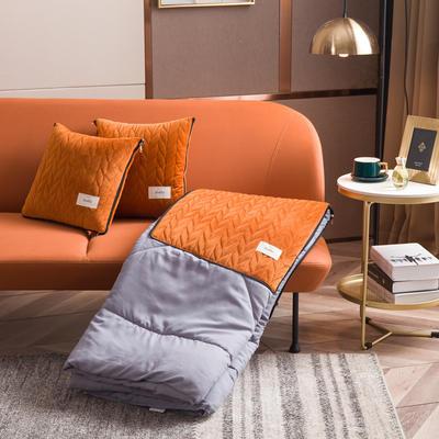 丝绒高奢系列抱枕被 50X50cm 爱玛橙