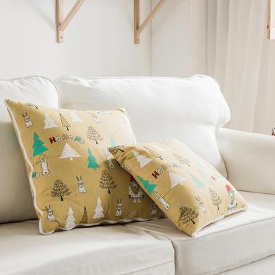 全活性小卡通全棉抱枕被 50X50cm 叮咚森林