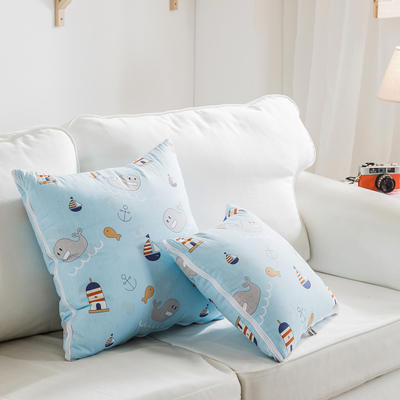 全活性小卡通全棉抱枕被 40X40cm 海洋奇缘