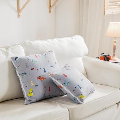 全活性小卡通全棉抱枕被 50X50cm 恐龙乐园