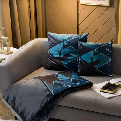北欧风印花毛毯抱枕毯 45x45cm 梦境