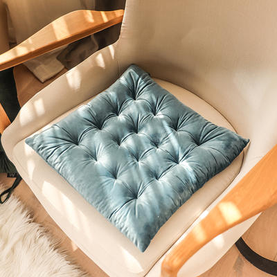 轻奢风方型坐垫 40X40cm 宝蓝