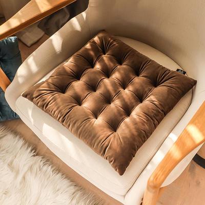 轻奢风方型坐垫 40X40cm 咖啡