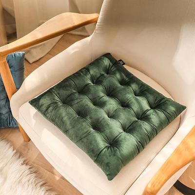 轻奢风方型坐垫 40X40cm 墨绿