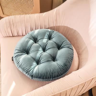 轻奢风圆形坐垫 直径42cm 宝蓝