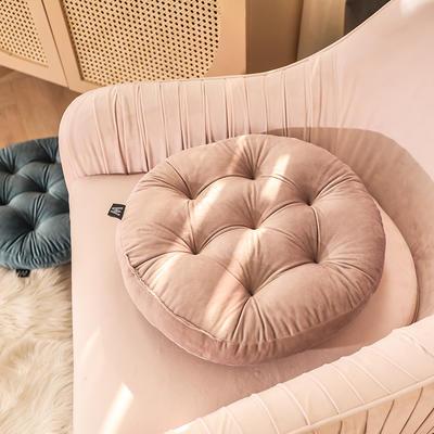 轻奢风圆形坐垫 直径42cm 浅紫