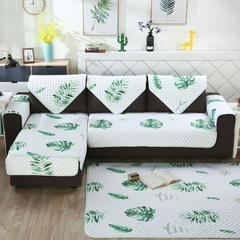 2018新款北欧简约沙发垫 110*180cm 绿叶