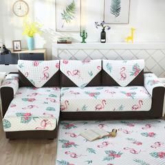 2018新款北欧简约沙发垫 150*180cm(茶几地垫/床边垫) 绿叶鸟