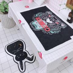 2018新款三个尺寸羊羔绒毯 75×100 老虎头
