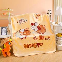仿羊绒童云毯系列 包装3元/个 绵羊 米