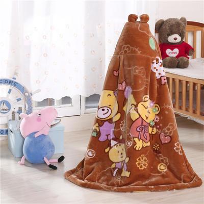披风婴幼儿加厚外套儿童宝宝外出斗篷新生儿秋冬挡风被保暖披肩 驼色
