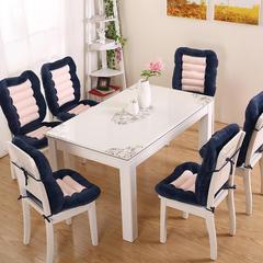 考驾照学车专用练车开车增高加厚坐垫办公室椅子靠垫餐椅垫有绑绳 单坐垫 48×38 cm 蓝色