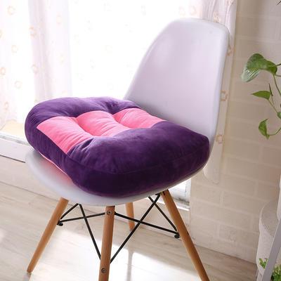 驾考坐垫练车学车开车增高加厚坐垫椅子垫驾考专用汽车椅垫 48x48cm 紫色