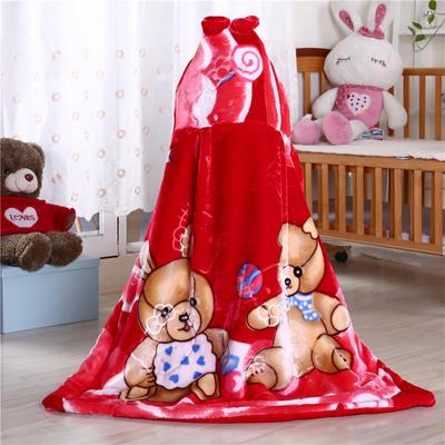 披风婴幼儿加厚外套儿童宝宝外出斗篷新生儿秋冬挡风被保暖披肩 2号大红