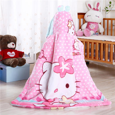 披风婴幼儿加厚外套儿童宝宝外出斗篷新生儿秋冬挡风被保暖披肩 2号粉色