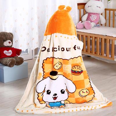 披风婴幼儿加厚外套儿童宝宝外出斗篷新生儿秋冬挡风被保暖披肩 2号黄色