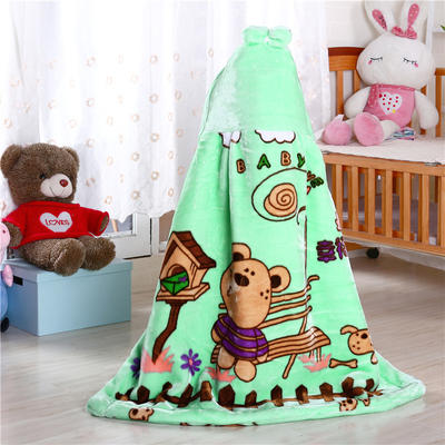披风婴幼儿加厚外套儿童宝宝外出斗篷新生儿秋冬挡风被保暖披肩 2号绿色