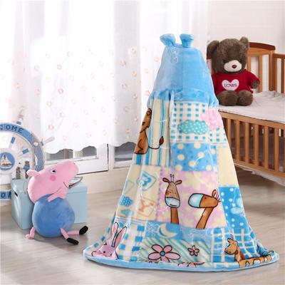 披风婴幼儿加厚外套儿童宝宝外出斗篷新生儿秋冬挡风被保暖披肩 2号天蓝