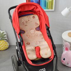 婴儿推车凉席伞车通用夏季透气新生儿儿童宝宝冰丝垫座椅可水洗 动物乐园-咖