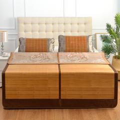 一马平川竹席凉席三件套单人夏季竹凉席1.5米双面折叠席子1.8m床 1.5米 一马平川