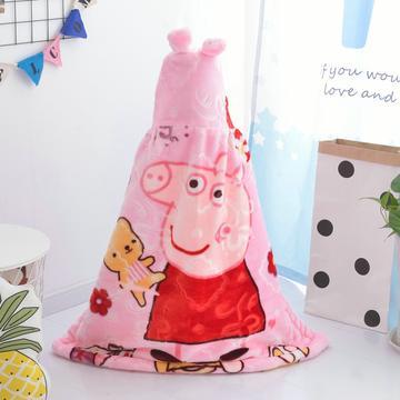 拉舍尔毛毯婴儿披风斗篷秋冬款加厚保暖新生婴幼儿童男女宝宝披肩