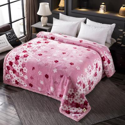 跑量双层加厚拉舍尔毛毯双人保暖盖毯学生宿舍单人绒毯子冬季毛毯被子 150*200 324粉色