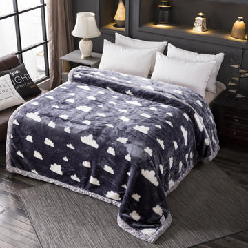 跑量雙層加厚拉舍爾毛毯雙人保暖蓋毯學生宿舍單人絨毯子冬季毛毯被子