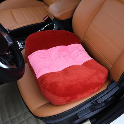 2018新款-学车坐垫增高加厚 矮个专用驾驶座汽车垫子驾照神器练车 科目二三 40×48cm 砖红