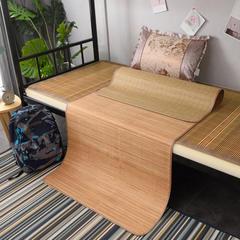 2019新款竹席凉席单人学生宿舍上铺下铺竹凉席子0.9米1.0上下床1.2折叠席 枕套(45×72cm) 水木年华