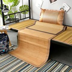 2019新款竹席凉席单人学生宿舍上铺下铺竹凉席子0.9米1.0上下床1.2折叠席 枕套(45×72cm)/个 海港之夜