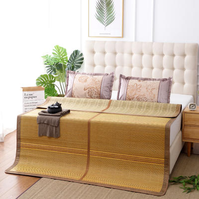 夏季床上凉席竹双面竹席凉席1.8家用床席夏席子1.5m床2x2.2米双人 冰丝枕套45×72/对 盛夏光年