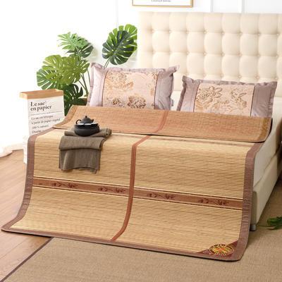 夏季床上凉席竹双面竹席凉席1.8家用床席夏席子1.5m床2x2.2米双人 冰丝枕套45×72/对 春意盎然