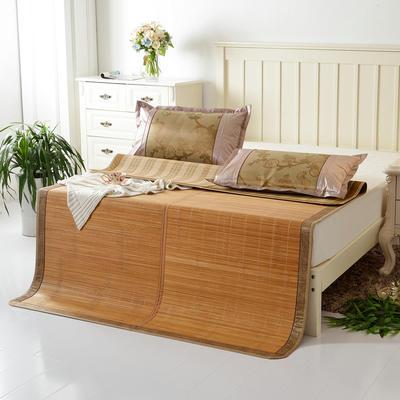 夏季床上凉席竹双面竹席凉席1.8家用床席夏席子1.5m床2x2.2米双人 冰丝枕套45×72/对 海港之夜