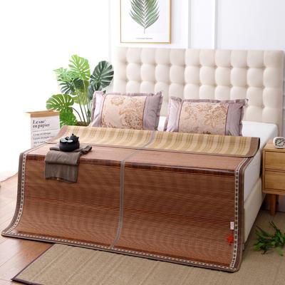 夏季床上凉席竹双面竹席凉席1.8家用床席夏席子1.5m床2x2.2米双人 冰丝枕套45×72/对 竹意轩