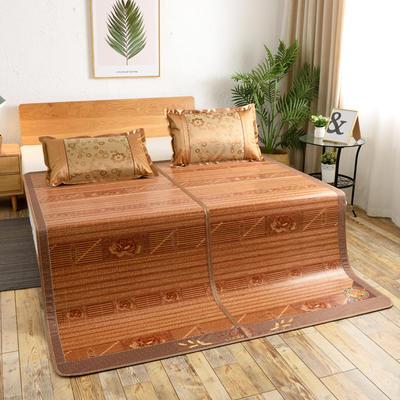 夏季床上凉席竹双面竹席凉席1.8家用床席夏席子1.5m床2x2.2米双人 冰丝枕套45×72/对 皇冠假日