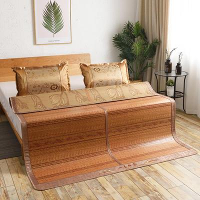 夏季床上凉席竹双面竹席凉席1.8家用床席夏席子1.5m床2x2.2米双人 冰丝枕套45×72/对 花样年华
