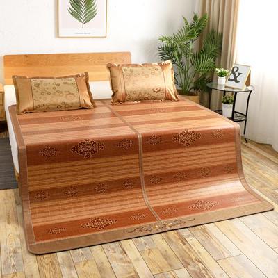 夏季床上凉席竹双面竹席凉席1.8家用床席夏席子1.5m床2x2.2米双人 冰丝枕套45×72/对 盛世皇宫