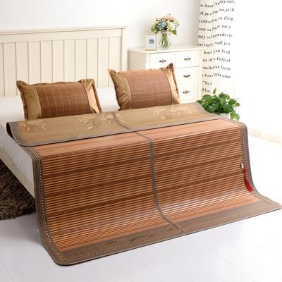夏季床上凉席竹双面竹席凉席1.8家用床席夏席子1.5m床2x2.2米双人 冰丝枕套45×72/对 节节高升
