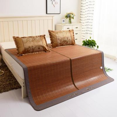 夏季床上凉席竹双面竹席凉席1.8家用床席夏席子1.5m床2x2.2米双人 冰丝枕套45×72/对 倾国倾城