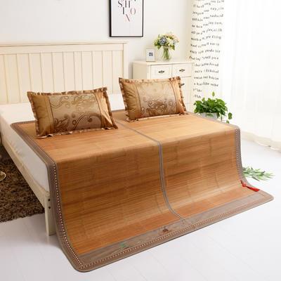 夏季床上凉席竹双面竹席凉席1.8家用床席夏席子1.5m床2x2.2米双人 冰丝枕套45×72/对 竹报平安