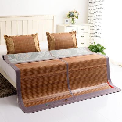 夏季床上凉席竹双面竹席凉席1.8家用床席夏席子1.5m床2x2.2米双人 冰丝枕套45×72/对 金玉满堂