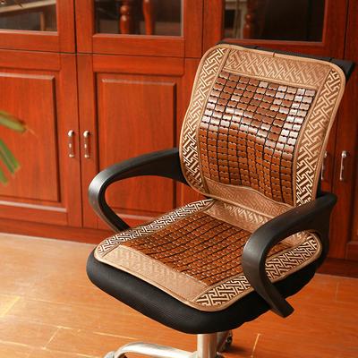 2019新款椅垫夏季麻将竹凉席椅子坐垫靠垫一体夏天办公室电脑座垫老板坐垫汽车垫 特价垫发货花型随机 麻将老板椅垫