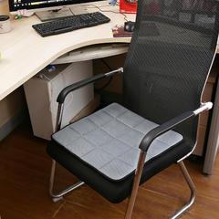 坐垫办公室椅垫3D网眼透气防滑竹炭坐垫学生垫餐椅垫汽车垫夏季 45×45cm 竹炭椅垫灰色
