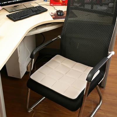 坐垫办公室椅垫3D网眼透气防滑竹炭坐垫学生垫餐椅垫汽车垫夏季 45×45cm 竹炭椅垫米色