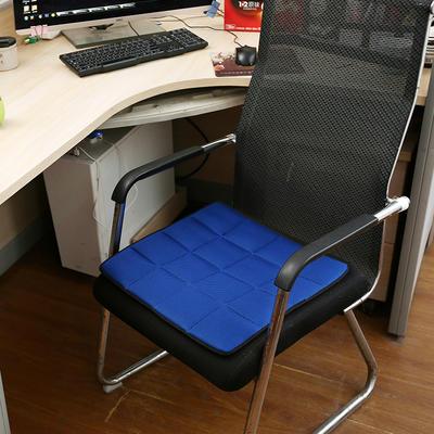坐垫办公室椅垫3D网眼透气防滑竹炭坐垫学生垫餐椅垫汽车垫夏季 45×45cm 竹炭椅垫蓝色