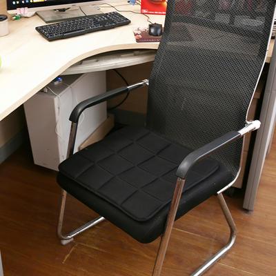 坐垫办公室椅垫3D网眼透气防滑竹炭坐垫学生垫餐椅垫汽车垫夏季 45×45cm 竹炭椅垫黑色