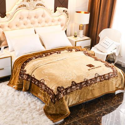 2019新款珊瑚绒毯子冬季加厚法兰绒拉舍尔毛毯垫床婚庆用品午睡云毯 200×230 库克小镇