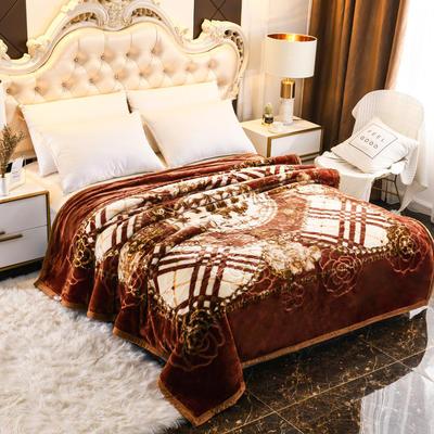 2019新款珊瑚绒毯子冬季加厚法兰绒拉舍尔毛毯垫床婚庆用品午睡云毯 180×210 维多尼亚